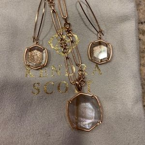 Authentic Kendra Scott Earring and Necklace Set